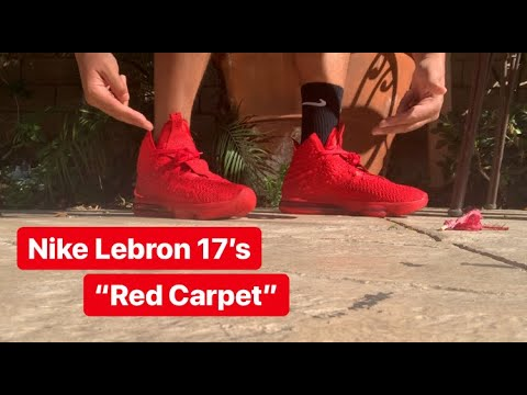 """UNBOXING: Lebron 17 """"Red Carpet"""" (ON FEET REVIEW)"""
