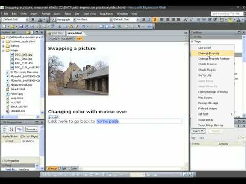Swapping Images And Rollover Effects In Expression Web