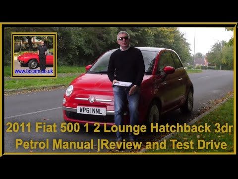 Review and Virtual Video Test Drive In Our 2011 Fiat 500  1 2 Lounge Hatchback 3dr Petrol Manual WP6