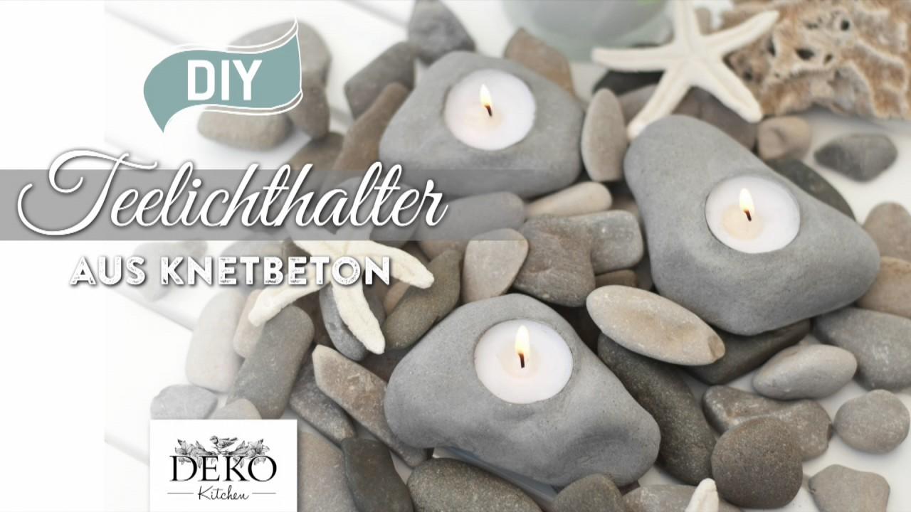 Diy coole teelichthalter in steinoptik aus knetbeton how to