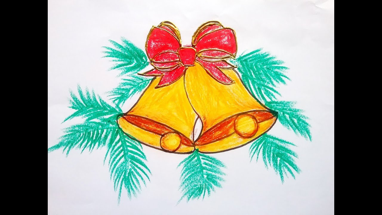 how to draw christmas bells easy for kids easy christmas tree bells drawing christmas coloring