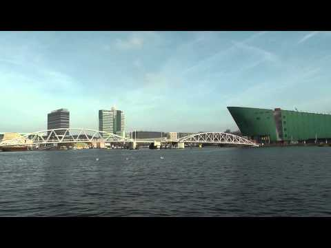 Passing by Nemo science center and eye filmmuseum - Amsterdam