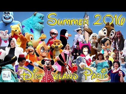 Disneyland Paris 2016 Summer Charaters !