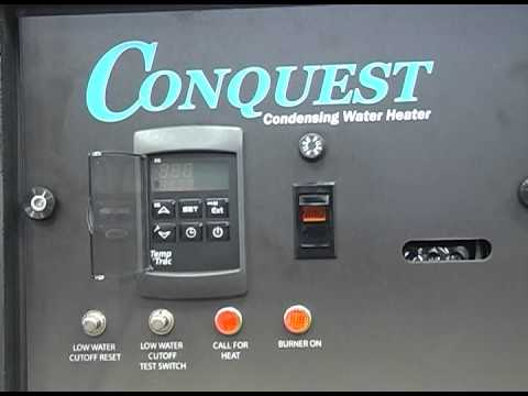 PVi Conquest Water Heater Startup