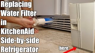 How To Replace Kitchenaid Refrigerator Water Filter Youtube