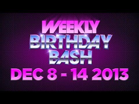 Celebrity Actor Birthdays - Week of December 8 - 14, 2013 HD