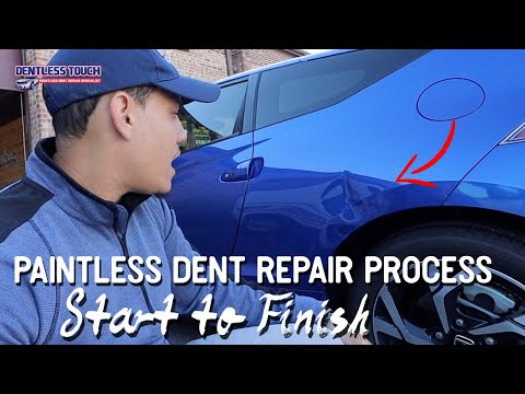 Watch! Start To Finish Dent Repair On A Honda CR-Z | Dentless Touch