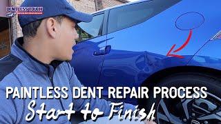 Watch! Start to Finish Dent Repair on a Honda CR-Z   Dentless Touch