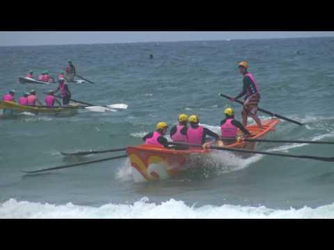 Newport Surf Boat Carnival -Open Mens Final - 4k