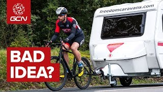 How Fast Can You Tow A Caravan With A Bike? | The Worst Idea We've Ever Had...