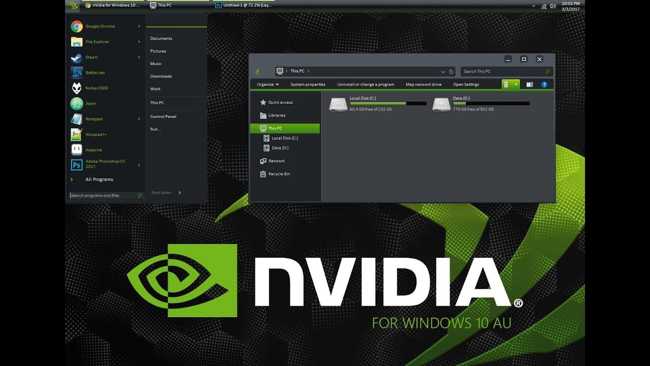 Nvidia black theme for windows 7