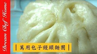 第ㄧ集~名店包子 饅頭麵團大公開 萬用包子饅頭麵團分享 烹飪How to DIY Chinese Meat Bun (1) Baozi