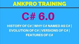 C# 6.0 - History of C# | Why C# named as C# | Evolution of C# | Versions of C# | Features of C#