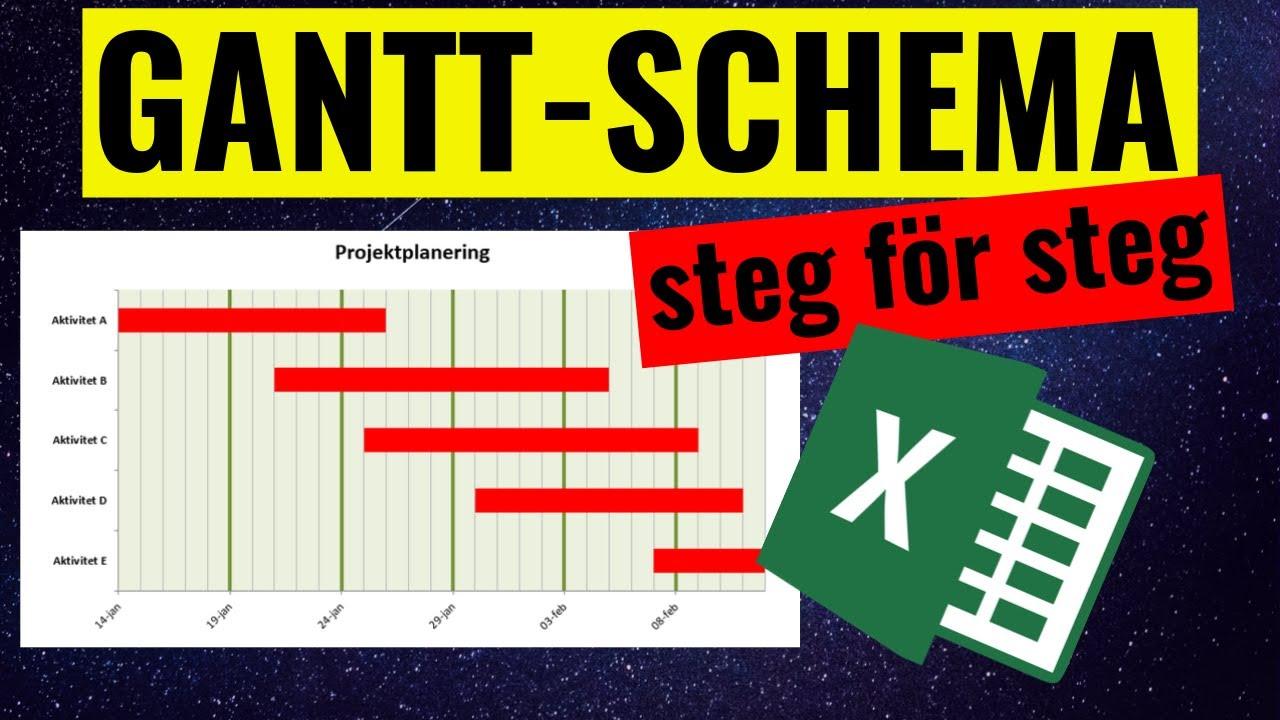 Ganttschema i Excel  YouTube