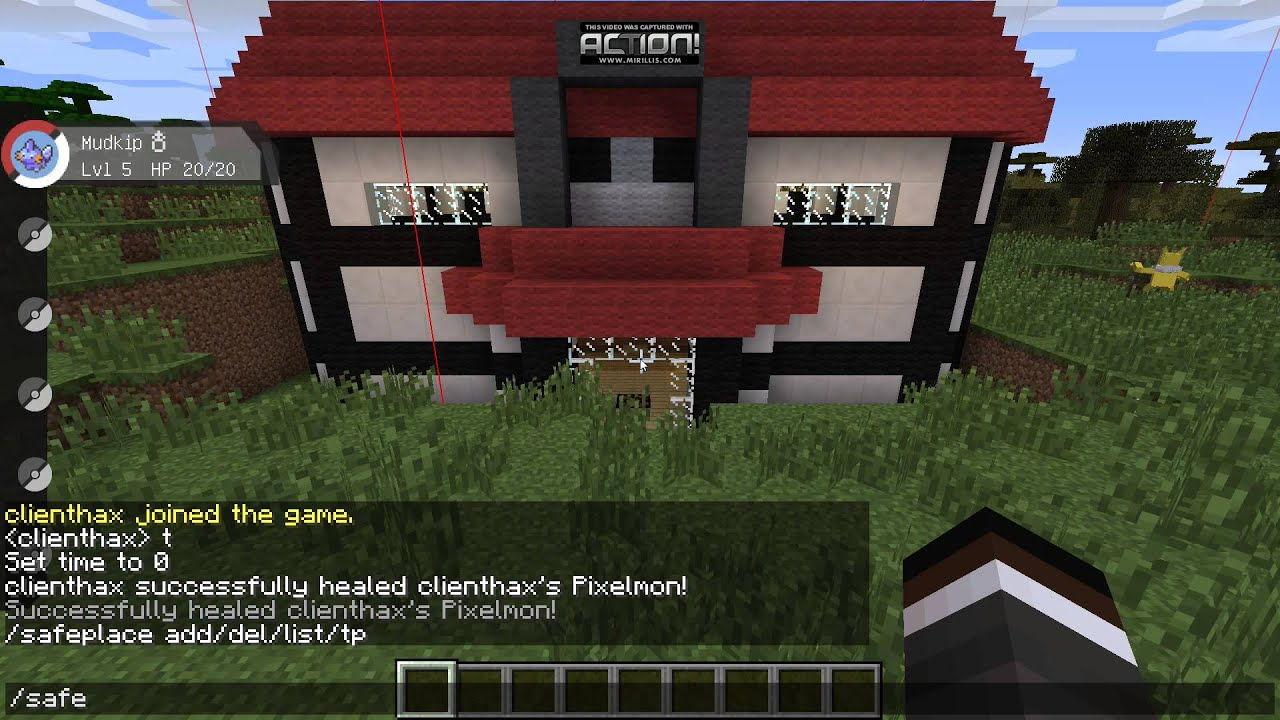 SafePlace Pixelmon Sidemod Demo by clienthax