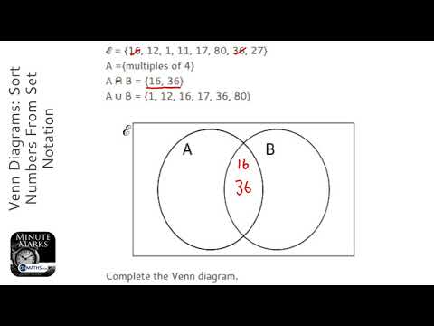 Venn Diagrams Sort Numbers From Set Notation Grade 5 Onmaths