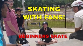 SKATING WITH FANS   BEGINNERS SKATE
