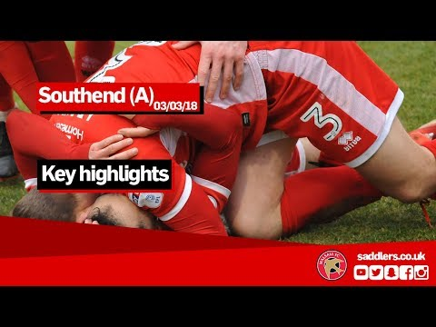 MATCH HIGHLIGHTS | Southend United 0-3 Walsall