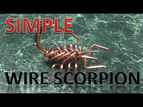 Simple Wire Scorpion - YouTube