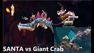 SANTA vs GIANT CRAB !!! - Hungry Shark Evolution