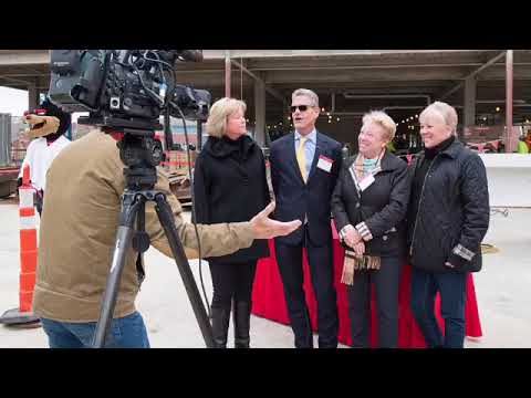 UC Gardner Neuroscience Institute - Steel topping out ceremony