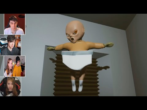 Реакция Летсплейщиков на Летающего Ребёнка в The Baby In Yellow