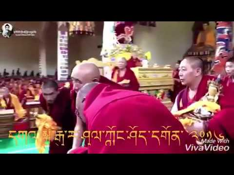 DS monks and high lama in Tibet 2016