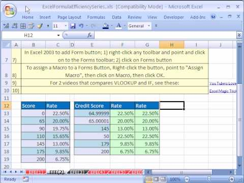 excel formula efficiency 2 time your formulas for speed youtube
