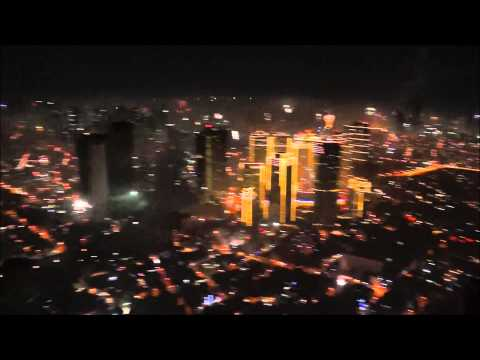 Fireworks over Metro Manila NYE 2014