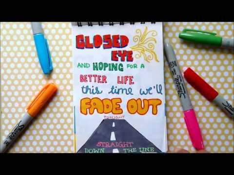 A-Team Ed Sheeran Lyric Art