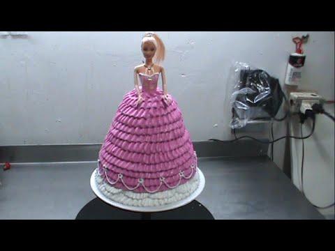 barbie cake 'pastel de barbie' con merengue italiano