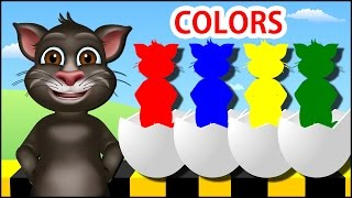 Colors for Children to Learn with Tom Cat - Colours for Kids to Learn - Kids Learning Videos
