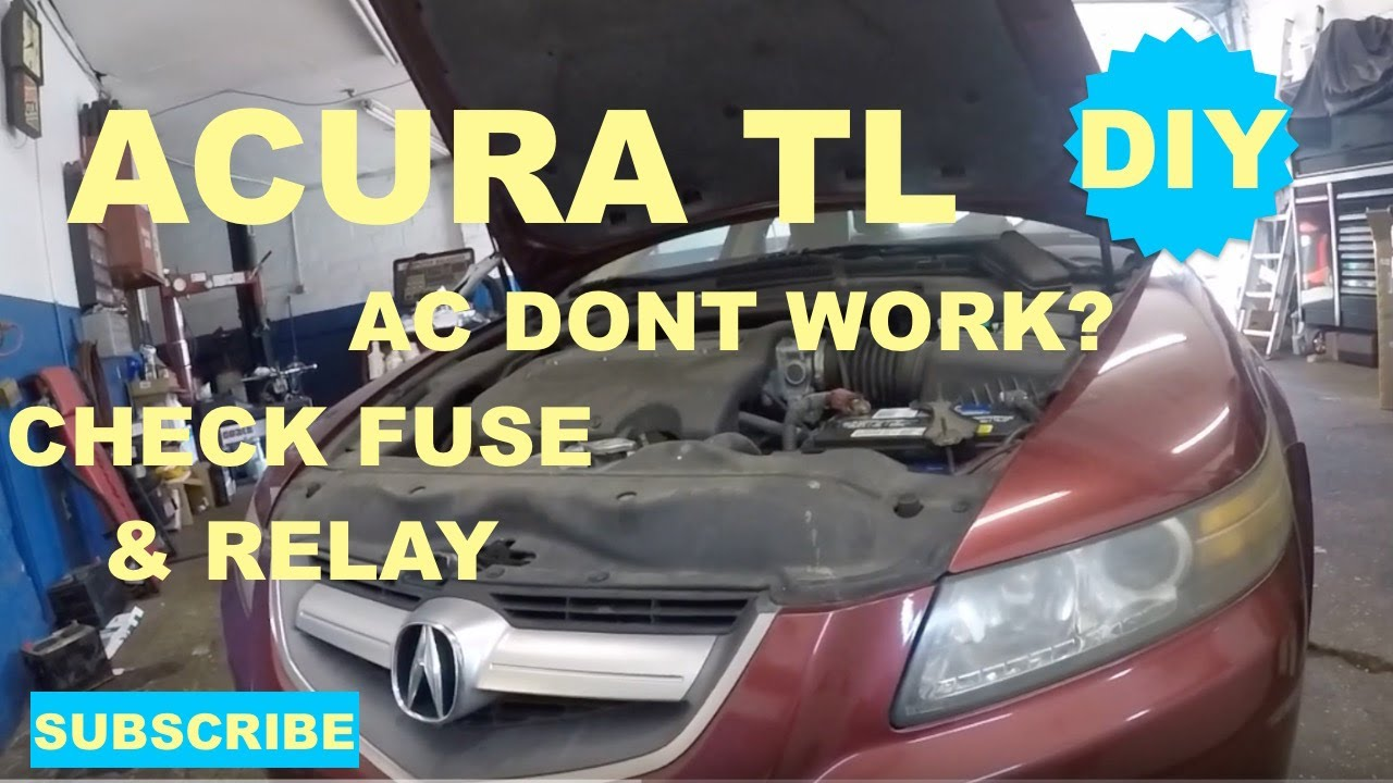 ac dont work on acura tl check fuse and relay [ 1280 x 720 Pixel ]