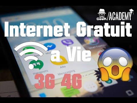INTERNET 3G/4G GRATUIT ILLIMITÉ A VIE 2017