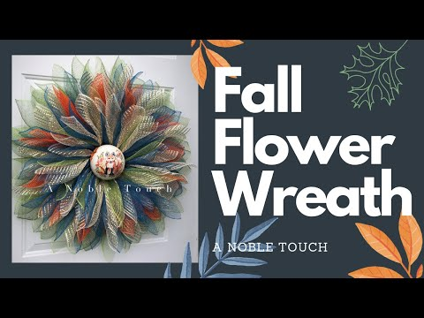 Fall Flower Wreath with Dollar Tree Bicycle Frame, Deco Mesh Wreath, DIY Wreath, Learn to Wreath thumbnail