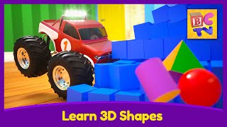 Learn 3D Shapes | Educational Video for Kids by Brain Candy TV