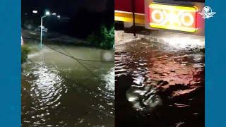 La noche de la inundación en Tula, Hidalgo, en algunas colonias del centro el agua del río subió hasta cubrir el primer piso de las casas, y tocar el techo