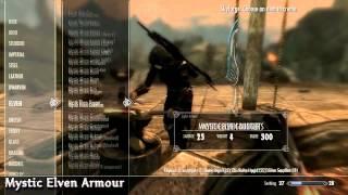 Skyrim Mod Spotlight: Sicarius, Mystic Elven, Black Sacrament Armour Mods