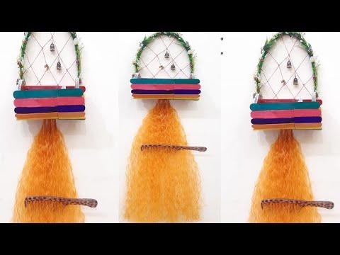 diy-comb-holder/hanger-from-waste-material-||-diy-disk/-diy-makeup-organizer-||-diy-crafts