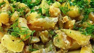 Вкуснейшие картофель с баклажанами в сметане.