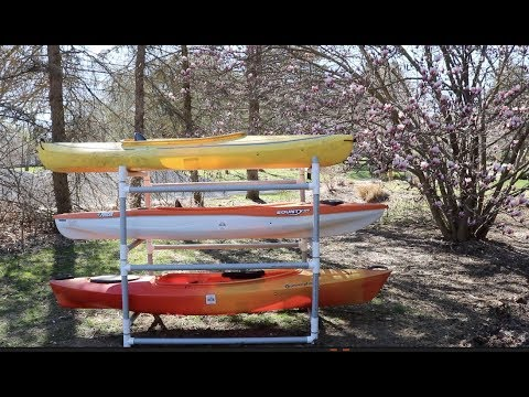 How to Build a DIY PVC Kayak Rack With Parts List & Assembly