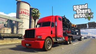 GTA 5 PC Mods - PLAY AS A TRUCKER MOD!!! GTA 5 Trucking Missions Mod Gameplay! (GTA 5 Mods Gameplay)