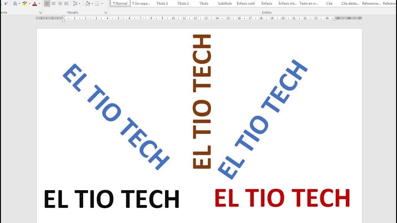 Como Escribir Texto Vertical En Word Youtube