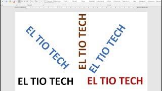 Como Escribir Texto Vertical En Word Youtube