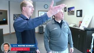 Sen. Schmidt tours the Sault Ste. Marie International Bridge