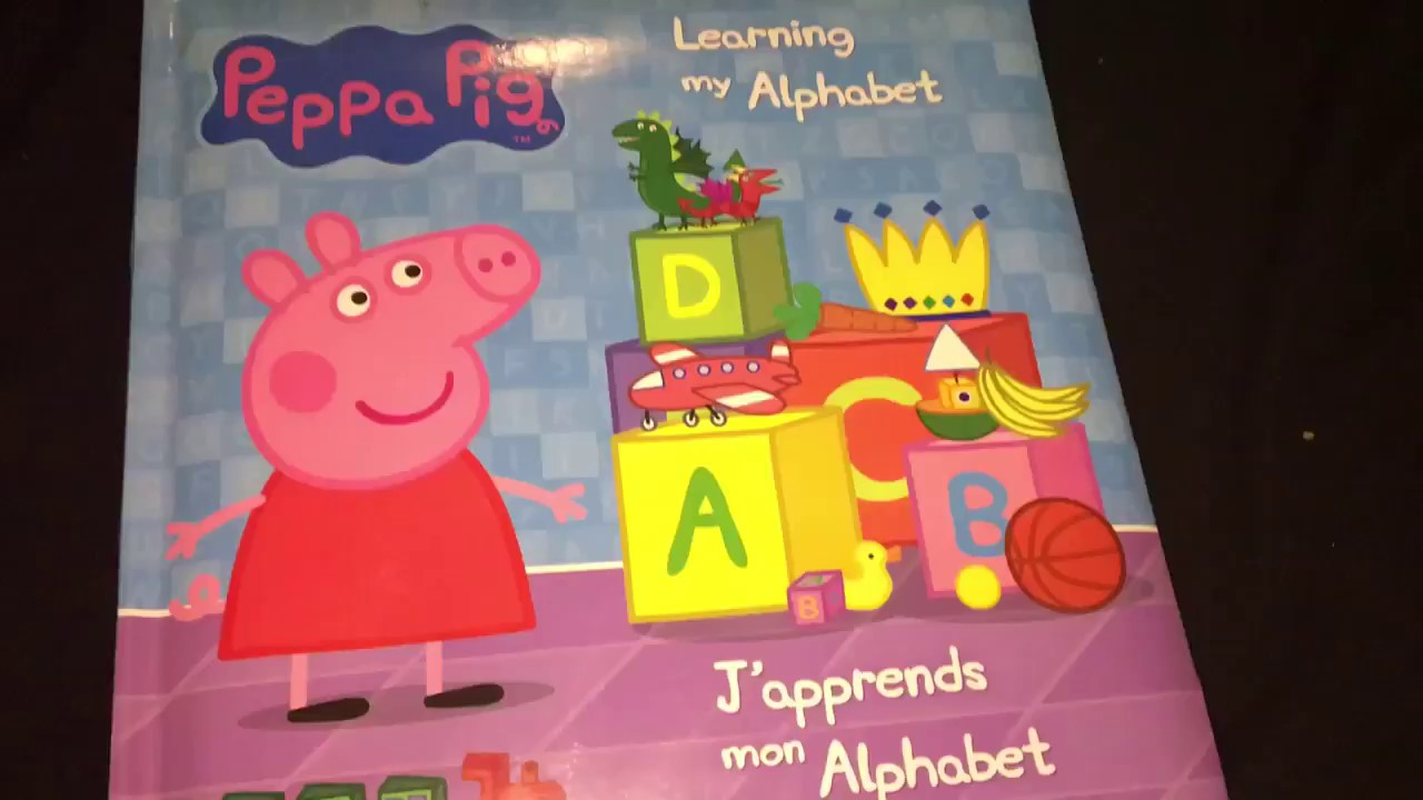 Peppa Pig Learning The Alphabet Board Book Youtube