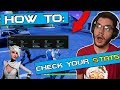 FORTNITE: BATTLE ROYALE - HOW TO CHECK ALL YOUR STATISTICS!