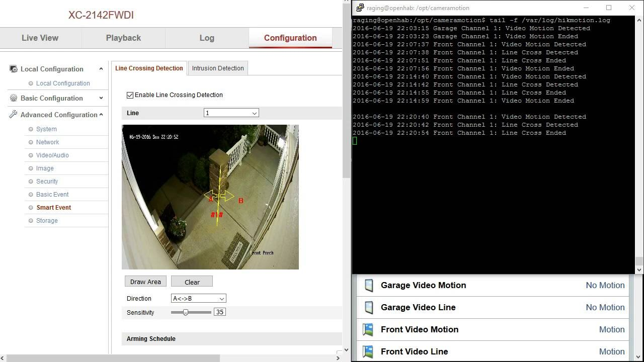 Hikvision Motion Detection in OpenHAB using node js – Raging Computer