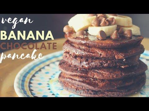 vegan-chocolate-pancake-recipe---recette-pancake-vegan-au-chocolat-(no-sugar-added)