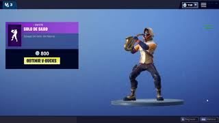 NEW EMOTE - FORTNITE - SOLO DE SAXO